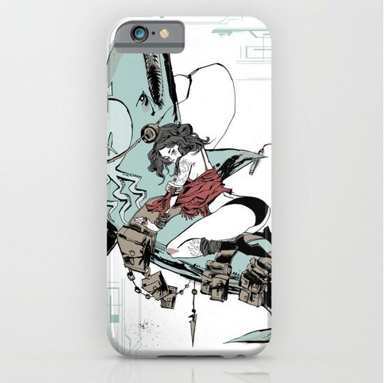 Aqua Nunchucks iPhone Case