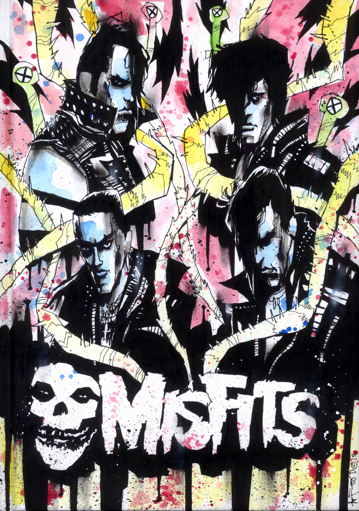 VISUAL FUNK ART BOOK W/ MISFITS COVER