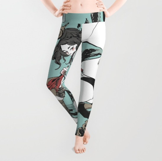 Aqua Nunchucks Leggings