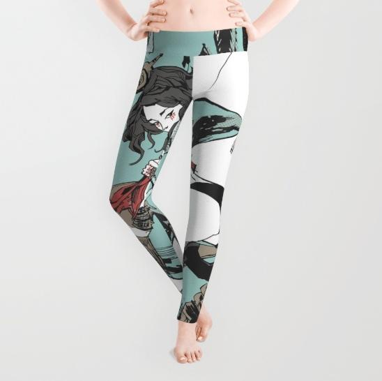 Aqua Nunchucks Leggings