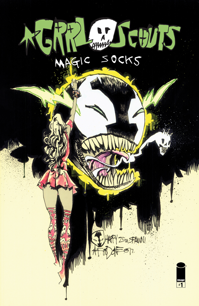 GRRL SCOUTS x SPAWN VARIANT COVER #1