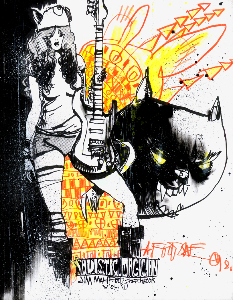 SADISTIC MAGICIAN CUSTOM SKETCH COVER EDITIONS – DEMONIC RIFF